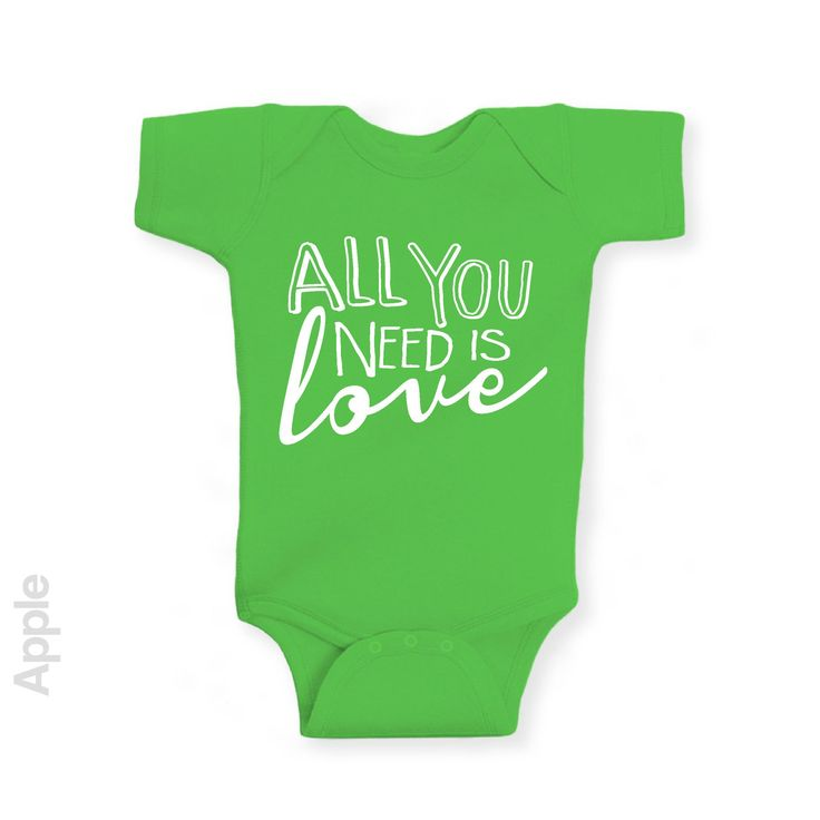 All You Need Is Love - Short Sleeve Infant Onesie   One-Piece Bodysuit   Baby Clothes   Also On Etsy
