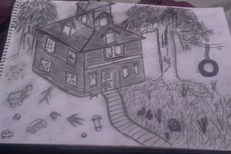 Creepy farm house