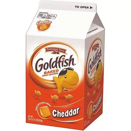 Pepperidge Farm Goldfish Cheddar Baked Snack Crackers, 30 oz - $8