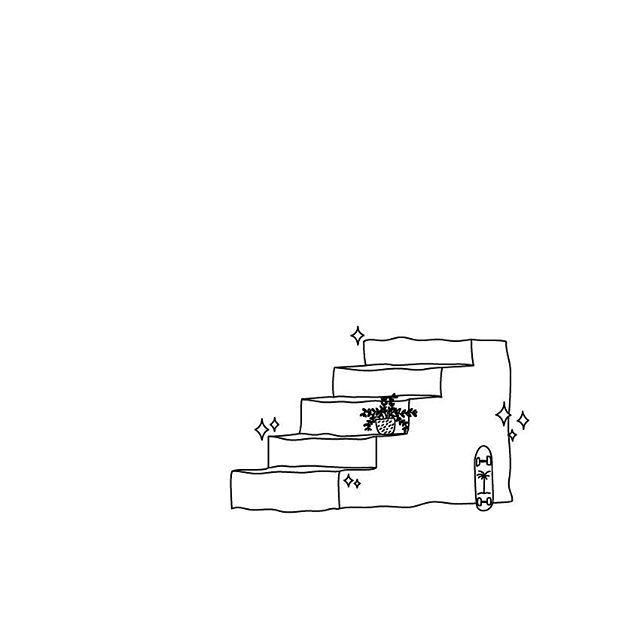 STAIRS  #proyecto89 #digitalillustration #illustration #digitalart #draw #drawing #drawings #tiny ##stairs #sk8 #skateboard #tattoo #smalltattoo #tattoosketch #flashtattoo #outlines #simple #cool #rad