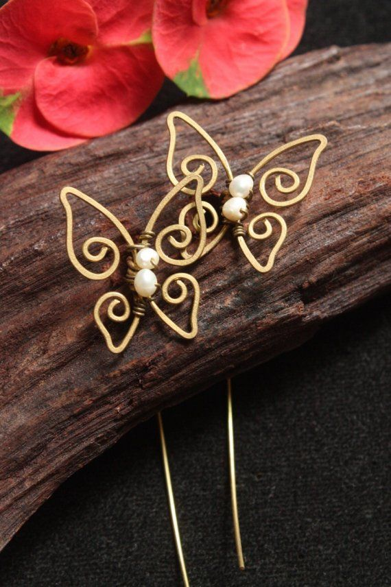 Small Butterfly  Pearl by crafitti on Etsy, $15.00