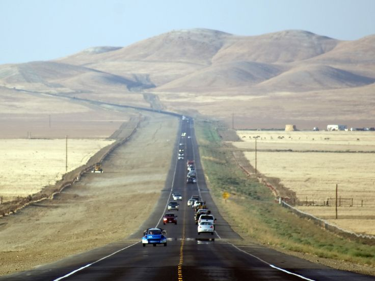 """San Joaquin Valley, California    """"In this way we floated and flapped down to the San Joaquin Valley. It lay spread a mile below, virtually the floor of California, green and wondrous from our aerial shelf. We made thirty miles without using gas"""" (168)."""