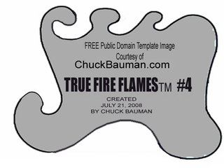 Free True Fire Flames airbrushing stencil template #5 photo true-fire-template-stencil-5.jpg