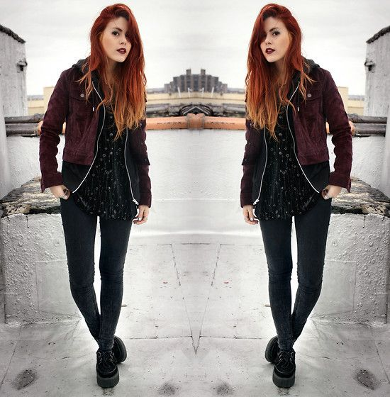 i wanna do my hair like hers, love the red ombre with blonde tips