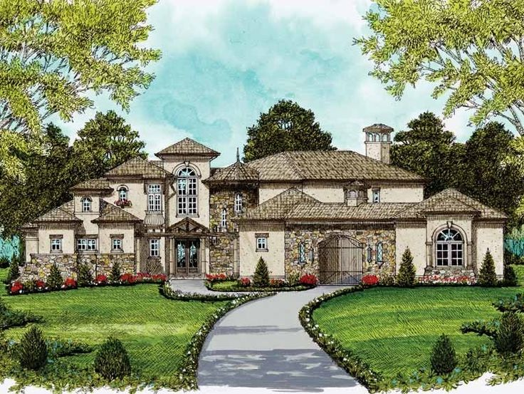 35 best 400 000 dream house plans images on pinterest for Italianate home plans
