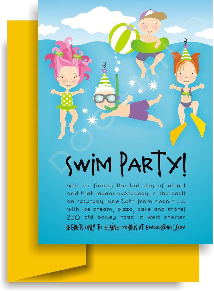 einladung ins schwimmbad basteln   einladung