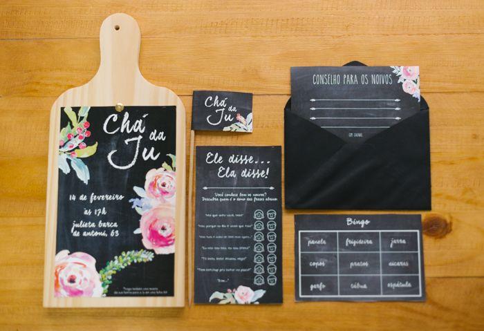 Papelaria estilo chalkboard - Chá de Cozinha (Surpresa) da Ju