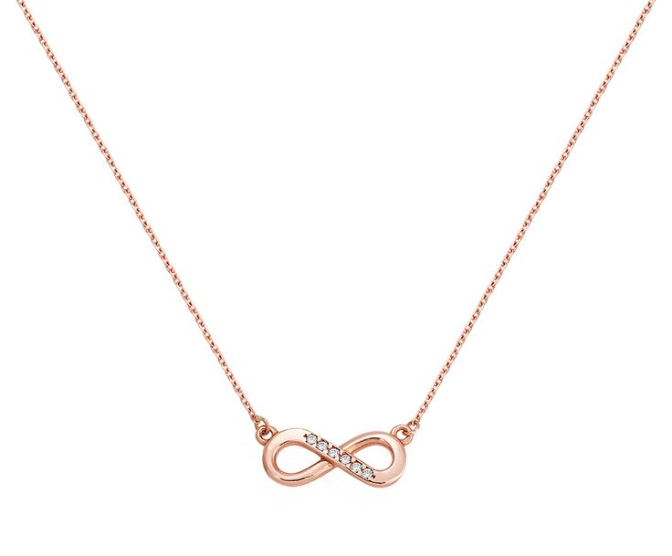 infinity gold necklace in 14K