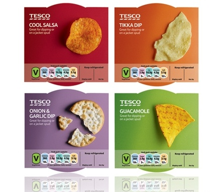 Honey re-designs ready-meal packaging for Tesco - simple photography with vibrant, modern colours