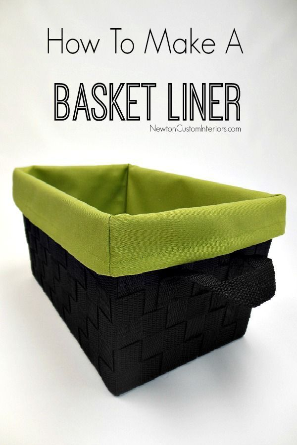 How To Make A Basket Liner from NewtonCustomInteriors.com.  Learn how to make this cute basket liner with this detailed sewing tutorial.