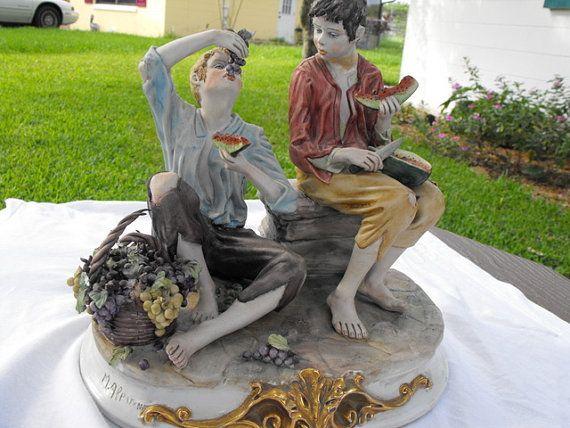 Vintage Large Capodimonte style Porcelain by DeeSweetNostalgia, $299.99
