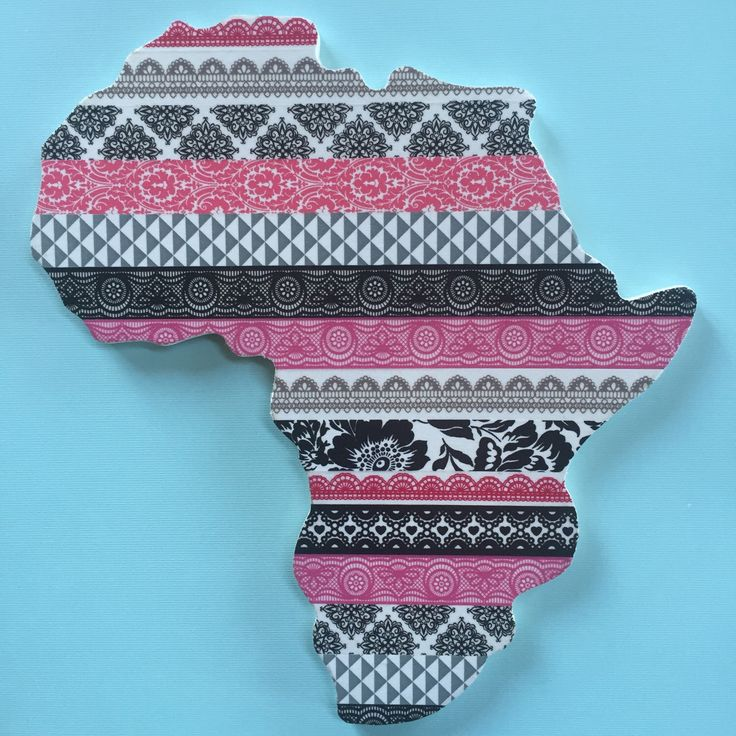 Pink Africa wall decor from my Etsy shop https://www.etsy.com/listing/259988081/pink-africa-wall-decor