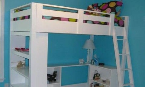 How to Build a Loft Bed = $100-$150 in materials. Very detailed instructions.
