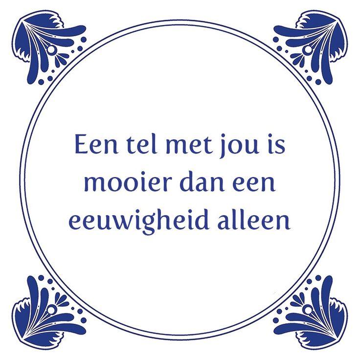 Tegeltjeswijsheid.nl - een uniek presentje - Een tel met jou Zondag is het valentijn, dus tijd voor lieve woordjes en spreuken. De meeste liefdes tegeltjes zijn daarom in de aanbieding. Leuk om cadeau te krijgen en ook om te geven! Kijk op www.tegeltjeswijsheid.nl onder liefde en vriendschap.  Like en share deze tegel met je geliefde!  http://www.tegeltjeswijsheid.nl/een-tel-met-jou.html  #valentijn #liefde