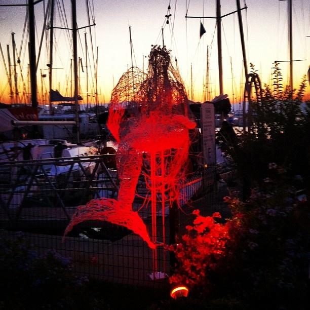 siren & sunset at Cesme Marina