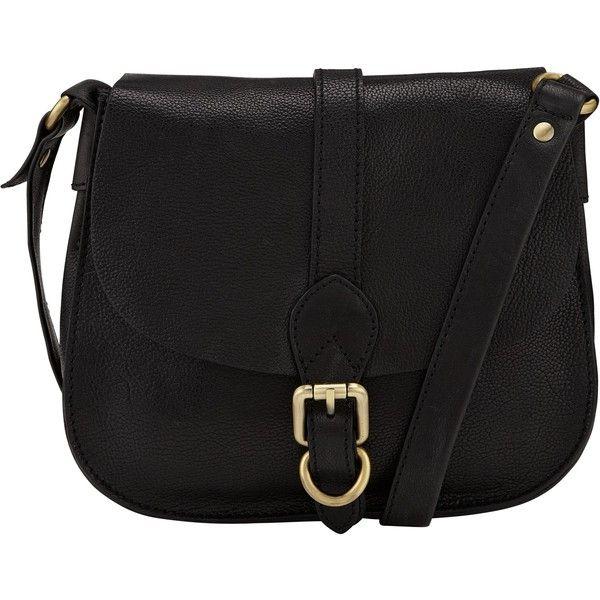 John Lewis Ashley Leather Across Body Bag, Black (€110) ❤ liked on Polyvore featuring bags, handbags, shoulder bags, accessories, purses, bolsa, bolsos, leather shoulder bag, black handbags and leather purse