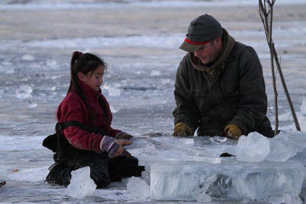 "Life Below Zero | Life Below Zero"" (TV show) scene with Chip Hailstone and his daughter ..."