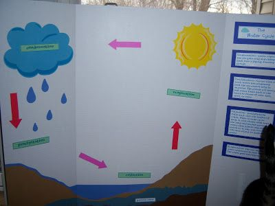 Water Cycle! So here it is!! I don't have much wall space in my room, so it's an interactive trifold bulletin board! My students absolutely love it :) ...