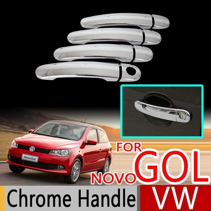 [Visit to Buy] For VW GOL G5 G6 2009-2016 Fox Suran Cross Chrome Door Handle Covers Trim Set Car Accessories Car Styling Voyage Saveiro 2012 #Advertisement