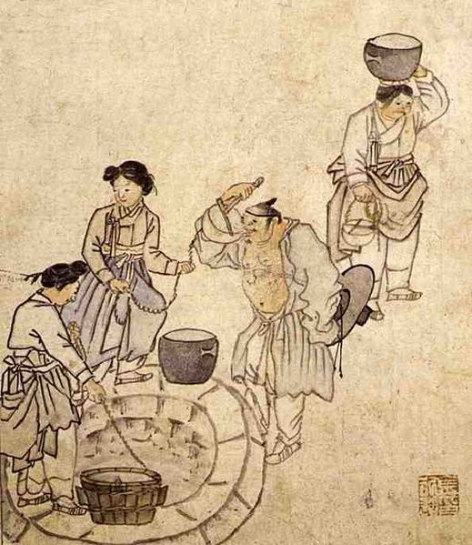 Danwon (Korean: 1745-1806) - By a well