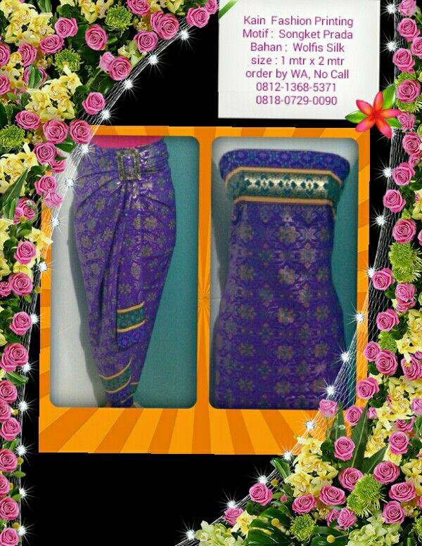 Kain Fashion Printing Ket & Order : Lihat di foto