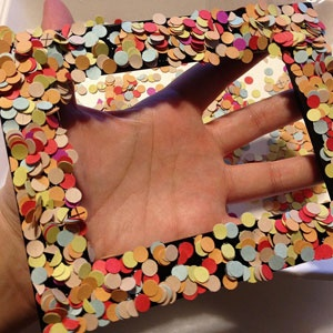 #fotolijstje maken met #confetti. Leuk voor #kinderen