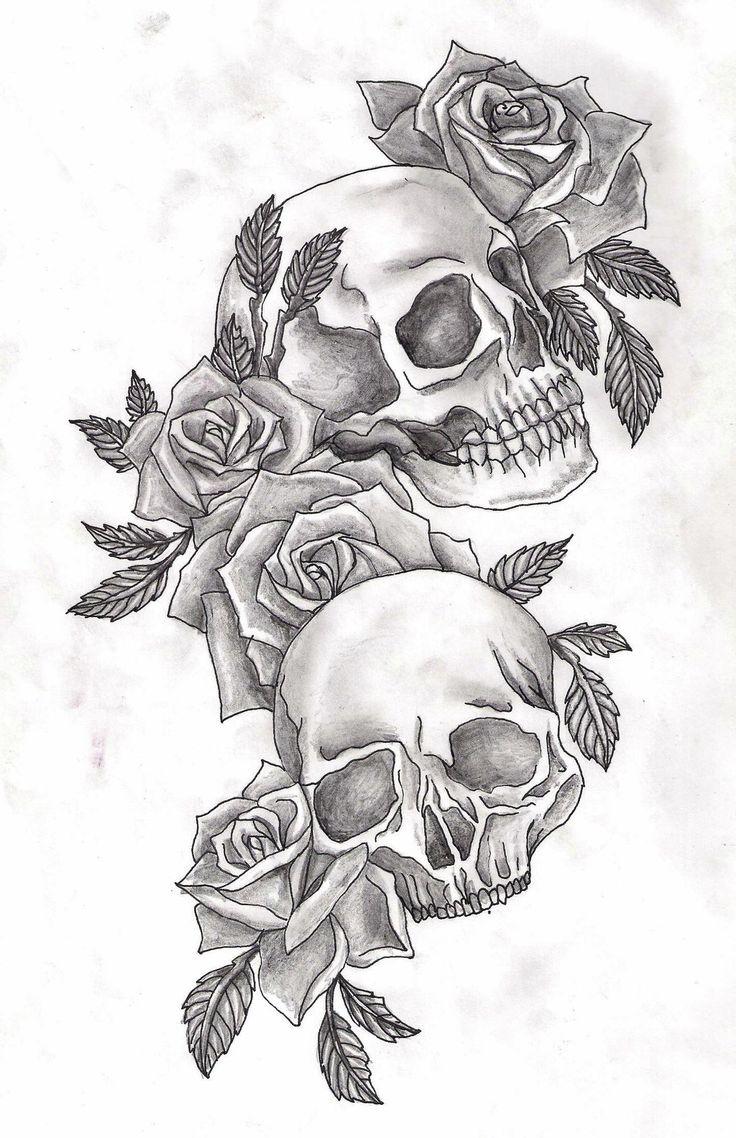 DeviantArt: More Like skulls and roses by Adler666