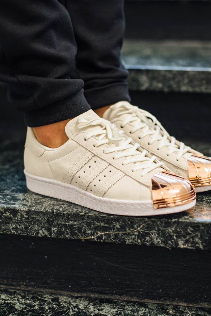 ADIDAS Shell Toe Superstar 80s Metal black white gold