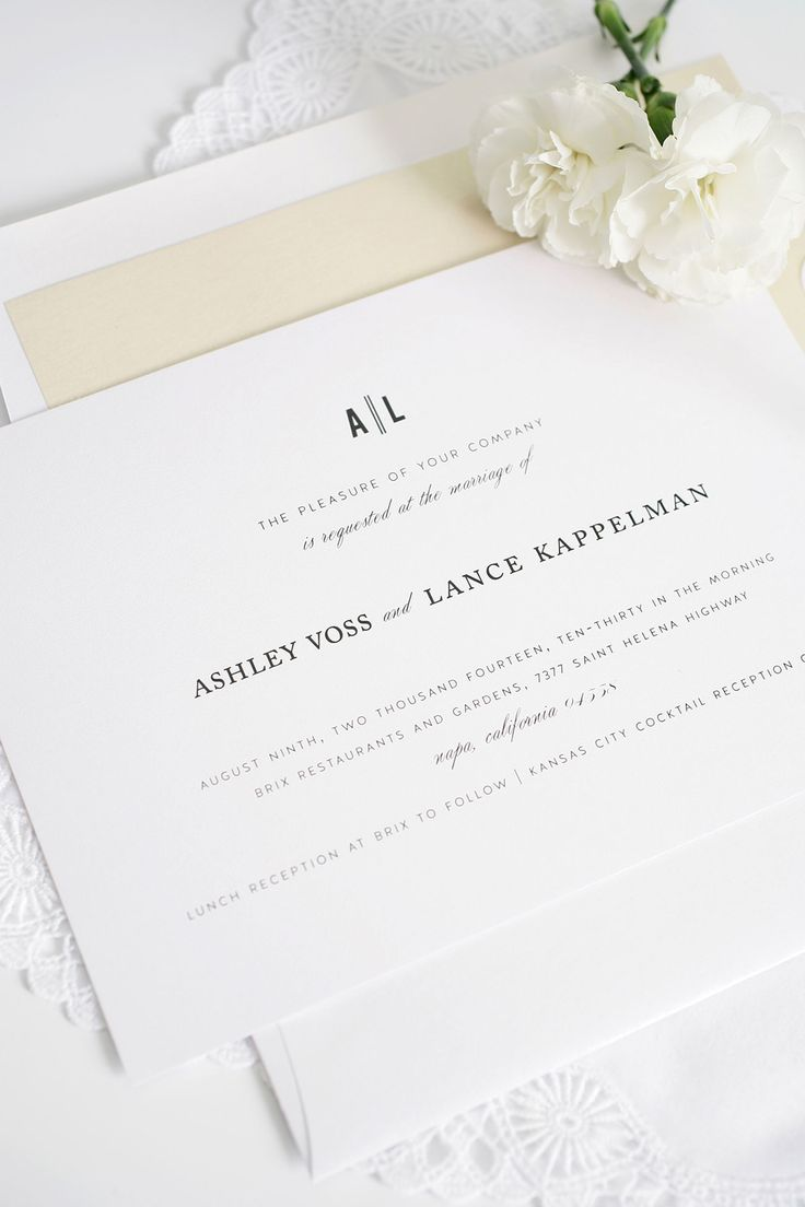 wedding invitation wording with no reception%0A Urban Wedding Invitations in Champagne