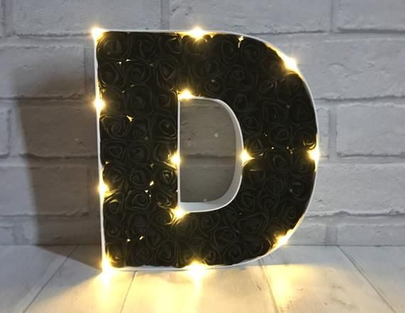 Black Rose Light Up Letter Black Rose Decoration Wooden Etsy In 2020 Rose Decor Light Up Letters Rose Lights