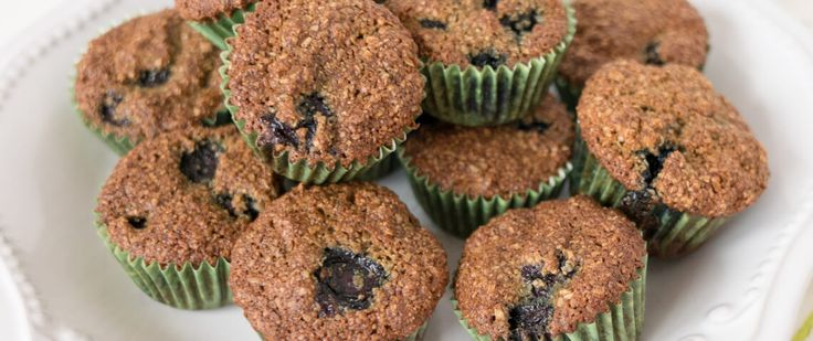 Blueberry Flax Oat Bran Muffins - toddler and adult friendly!