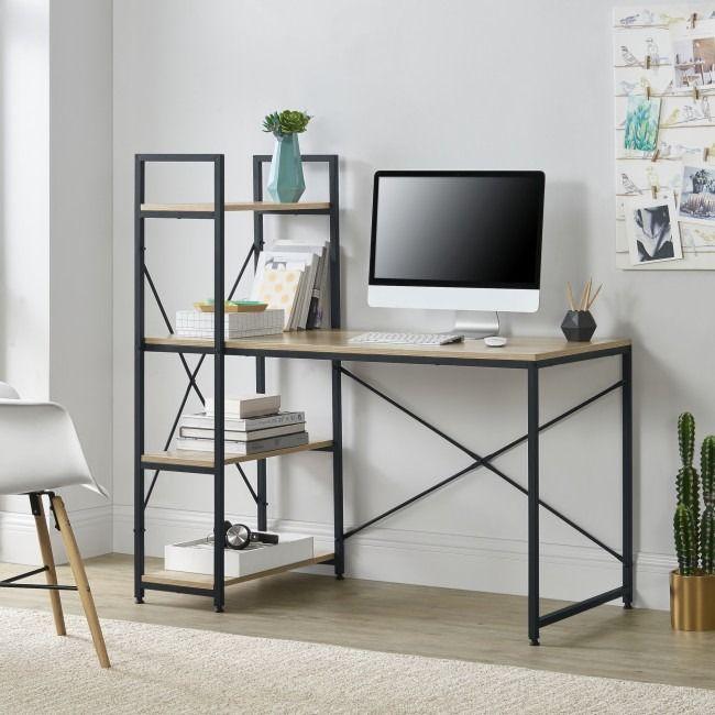 Bureau Style Industriel Noir Et Chaªne Cielterre Commerce En 2020 Bureau Style Industriel Bureau Tendance Style Industriel