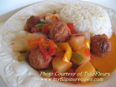 Filipino Meatballs with Sweet and Sour Sauce
