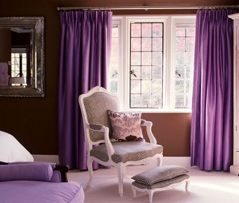 Purple and brown living room room ideas pinterest - Purple and tan living room ...