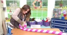 Get Festive By Making This Gigantic Holiday Lollipop Decoration Out Of A Pool Noodle via LittleThings.com