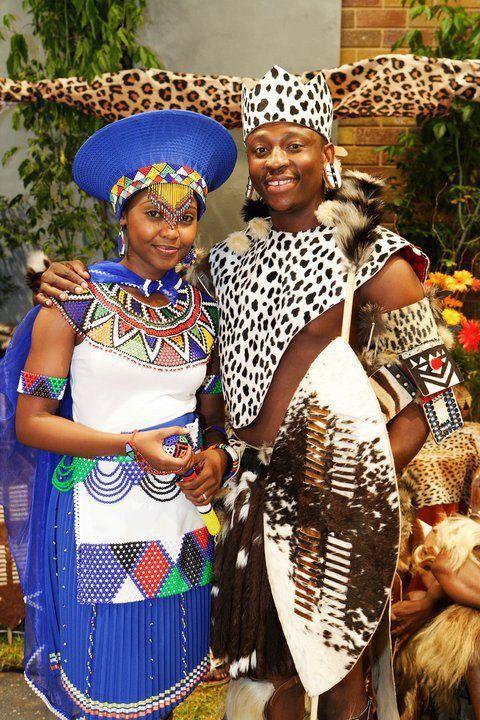 Zulu couple of Southern Africa ~
