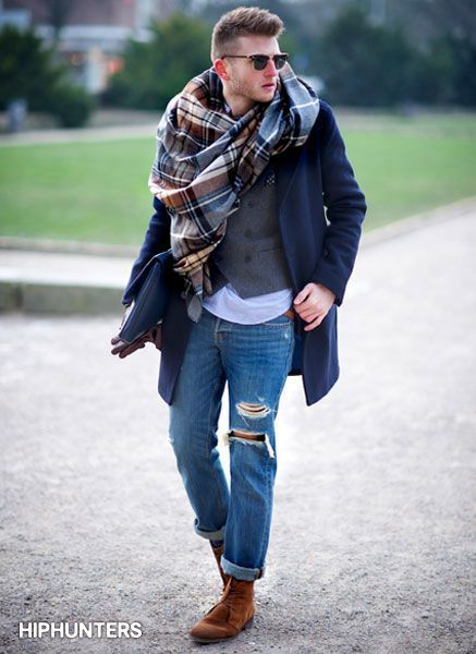 13-2 Men Ripped Jeans Outfits-18 Tips How To Wear Ripped Jeans