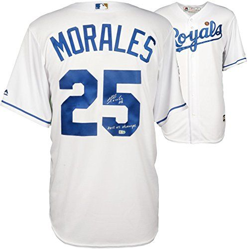 Cheap Kendrys Morales Kansas City Royals 2015 MLB World Series Champions Autographed Replica Jersey with 15 WS Champs Inscription - Fanatics Authentic Certified Father day sale