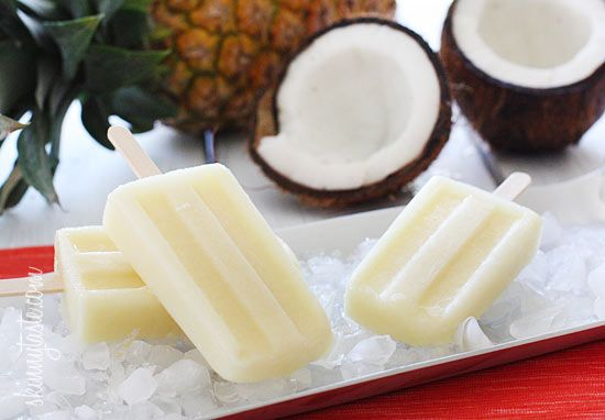 Weight Watchers 3 Points Plus (verified). Skinny Pina Colada Ice Pops Per