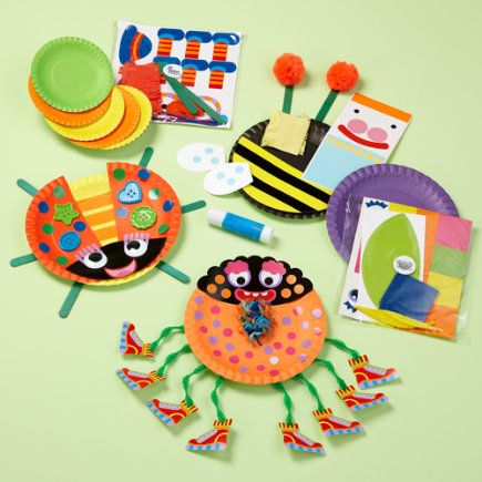Kids Arts And Crafts Toys Paper Plate Bug Craft Play Set