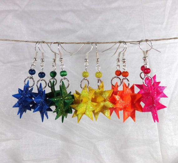 Origami Froebel Star Drop Earrings In Your by AccidentallyAwesome
