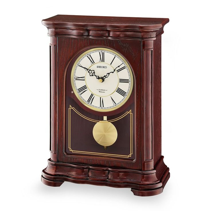Seiko Wood Musical Pendulum Mantel Clock - QXW242BLH, Brown