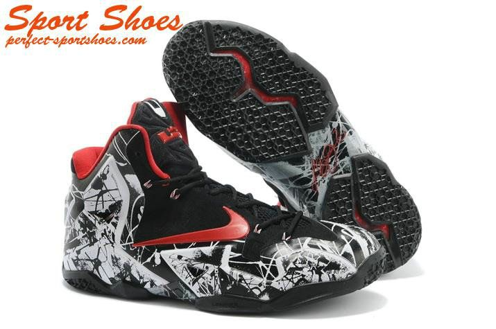 new product 82314 b63d1 Cheap Newest Style Nike Zoom Lebron James XI 11 Basketball Shoes Black Red