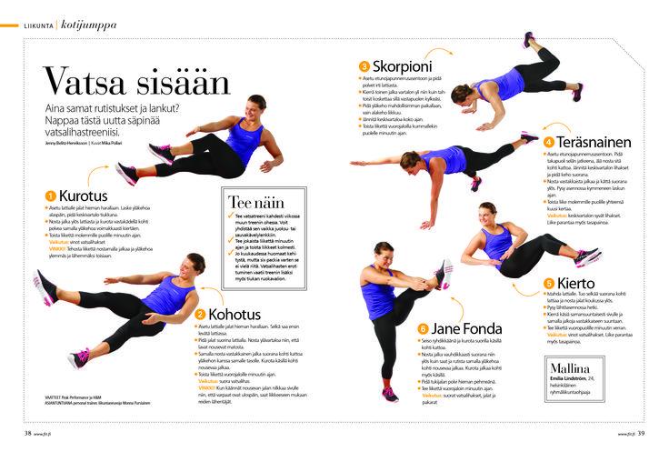 Vatsa sisään, uusia tuulia vastalihasjumppaan /  Fit 6/2013
