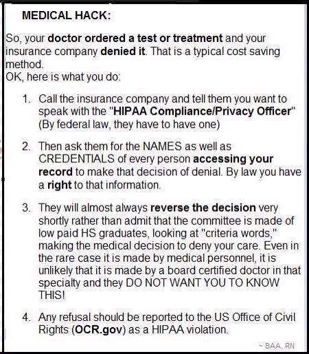 Don't know if this is 100% correct or not, but it can't hurt. Print it out and keep it with your medical papers.