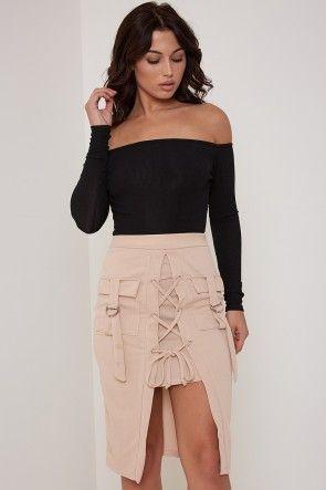 Black Bardot Bodysuit