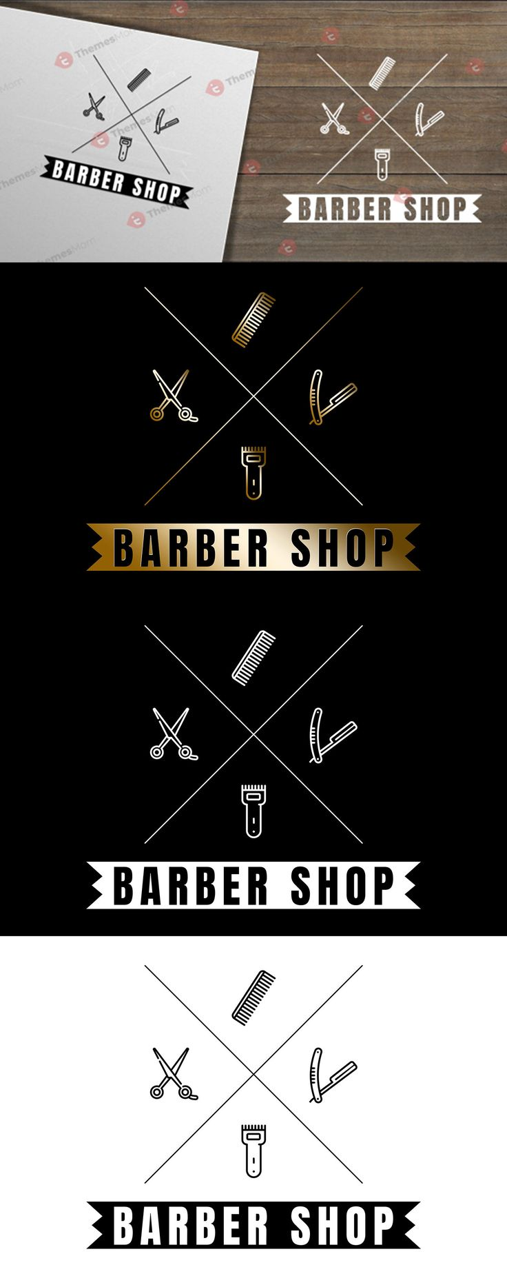 Barber Logo Illustrator Template Barber logo