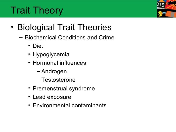 biological theories of crime essay The biological theories of crime support the idea that an individual commits a crime due to biological or genetic defects it was also thought that they had criminal tendencies because of certain abnormalities that an individual had and not because the offender rationally chose to commit the crime.