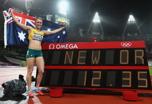 The Aussie gets it done! Gold 100m Hurdles