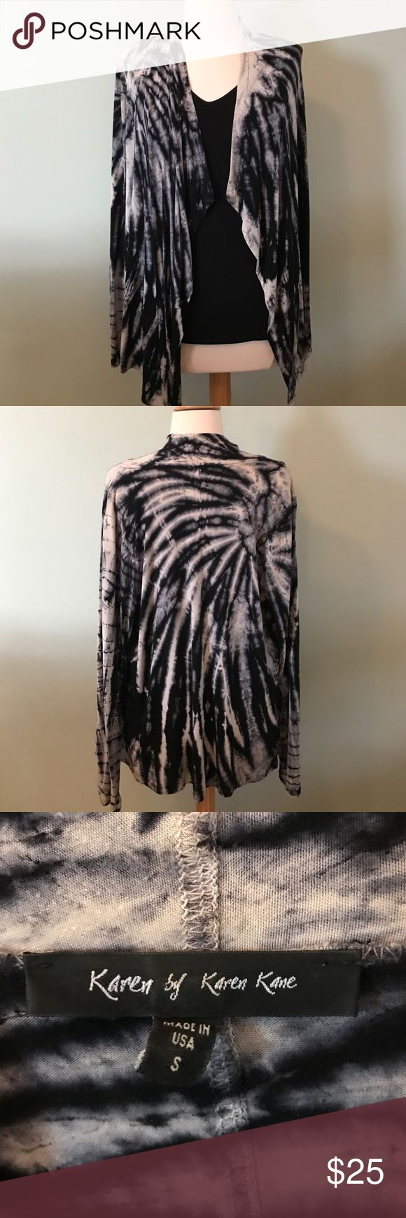 Karen Kane Print Cardigan Very soft with the luxurious feel, cotton with a little bit of stretch cardigan. Fits like a medium. Looks great with leggings and a simple black tank. Karen Kane Sweaters Cardigans